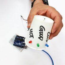 dCO ArduinoProjectUsingWaste ThePaperCupThermometer